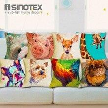 Nordic Fashion Throw Pillow Cushion Cover Home Decor Sofa Bed Cute Animal Printed Linen Square Cushion