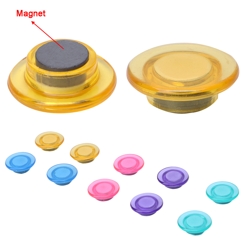 MEXI 10Pcs/bag Round Magnetic Pin Button Memo Message Note Whiteboard Fridge Home Office Refrigerator Parts mexi 10pcs bag round magnetic pin button memo message note whiteboard fridge home office refrigerator parts