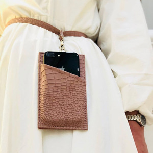 Image 5 - XMESSUN 2020 Genuine Leather Phone Card Holder Crocodile Pattern Cow Leather With Lanyardr Pouch Phone Bag For iPhone  XS Max XR