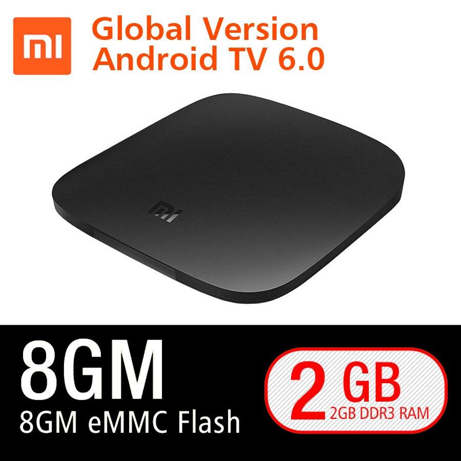 Versión Global Xiao mi TV BOX 3 inteligente 4 K Ultra HD 2G 8g Android 6,0 WIFI google Cast Netflix Red Bull Media Player Set-top Box