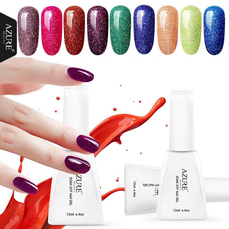 ᑎ‰Azure 1Pcs 12ml Colorful Neon Gel Nail Polish Soak Off UV Nail ...