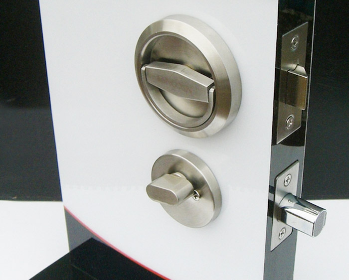 Door Locks Stainless Steel 304 Recessed Cup Handle Privacy Door Locks Set In