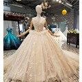 c2f3dc3fc H   S BRIDAL bola vestidos de novia de encaje puffy vestido de boda sin  tirantes