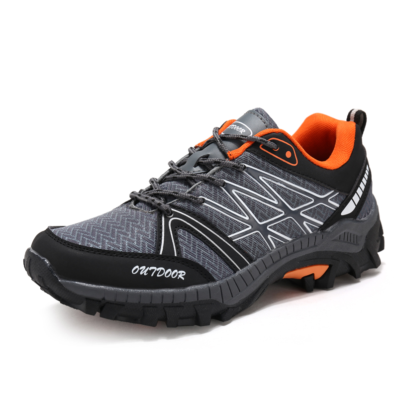 2017 Men Sport Hiking Shoes Breathable Mesh Outdoor escalada Tactical Sneakers Non slip Lace up Outventure Shoes Waterproof fish breathable lace up men outdoor hiking shoes