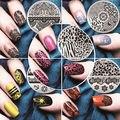 Un conjunto de Uñas de Arte Polaco Plantilla de Impresión de Uñas Stamper Scraper Set DIY Stencil Manicura Clavo Que Estampa Las Placas