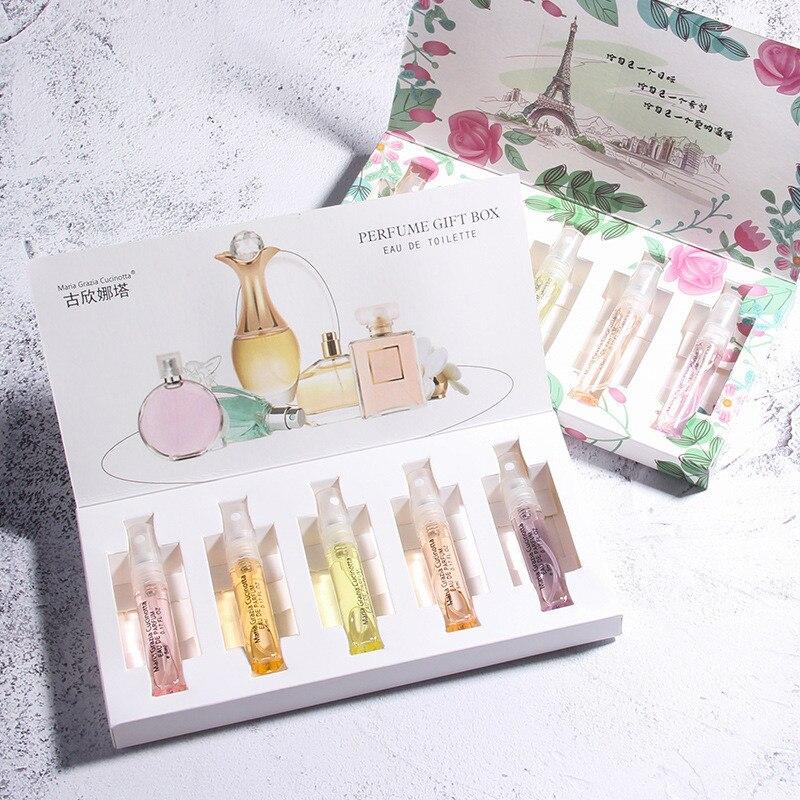 5ml 5pcs/Set Perfumed for Women Atomizer Perfumed Beautiful Package Men Parfums Fashion La