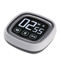 Large Touch Screen Digital Kitchen Timer LED Screen Electronic Laboratory To Remind The Timer Free Shipping