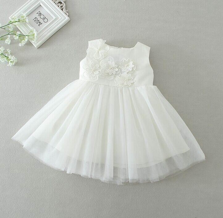 2016 New Newborn Baby Gown Dress Infant Girls Petal Bow Princess ...