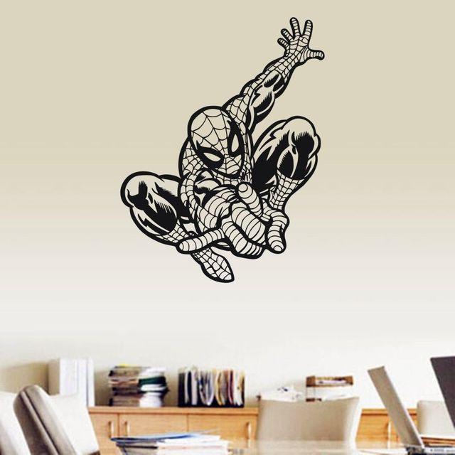 Avengers Spider Man Bedroom Decoration Vinyl Wall Art Stickers - Vinyl wall decals avengers