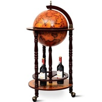 Vintage Globe Wine Holders Wine Standing Bottle Rack Bar Accessories HW47195