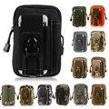 Para iphone/samsung/lg universal coldre tático militar molle ao ar livre hip cintura cinto saco bolsa carteira bolsa phone case bolsa com zíper