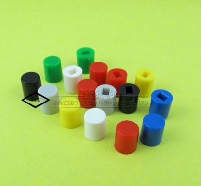 100pcs 7 color A06 Tactile Push Button Switch Cap,tact micro switch button Cap 7 values 70pcs 6x6x4 3 5 6 7 8 9 10mm tact switch tactile push button switch kit sets dip 4p micro switch high quality