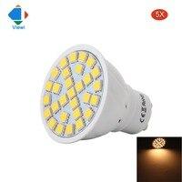 Viewi 5X lampade gu10 E27 MR16 110 v 220 v spotlight bóng đèn nhựa 5 Wát tiết kiệm năng lượng đèn đối với trang chủ SMD 5050 24 leds warm white light