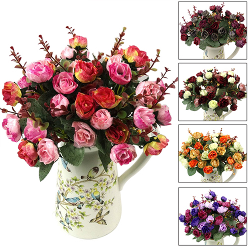 1 bouquet 21 heads artificial rose silk flower capable fake flower 1 bouquet 21 heads artificial rose silk flower capable fake flower for home party wedding decoration mightylinksfo Images