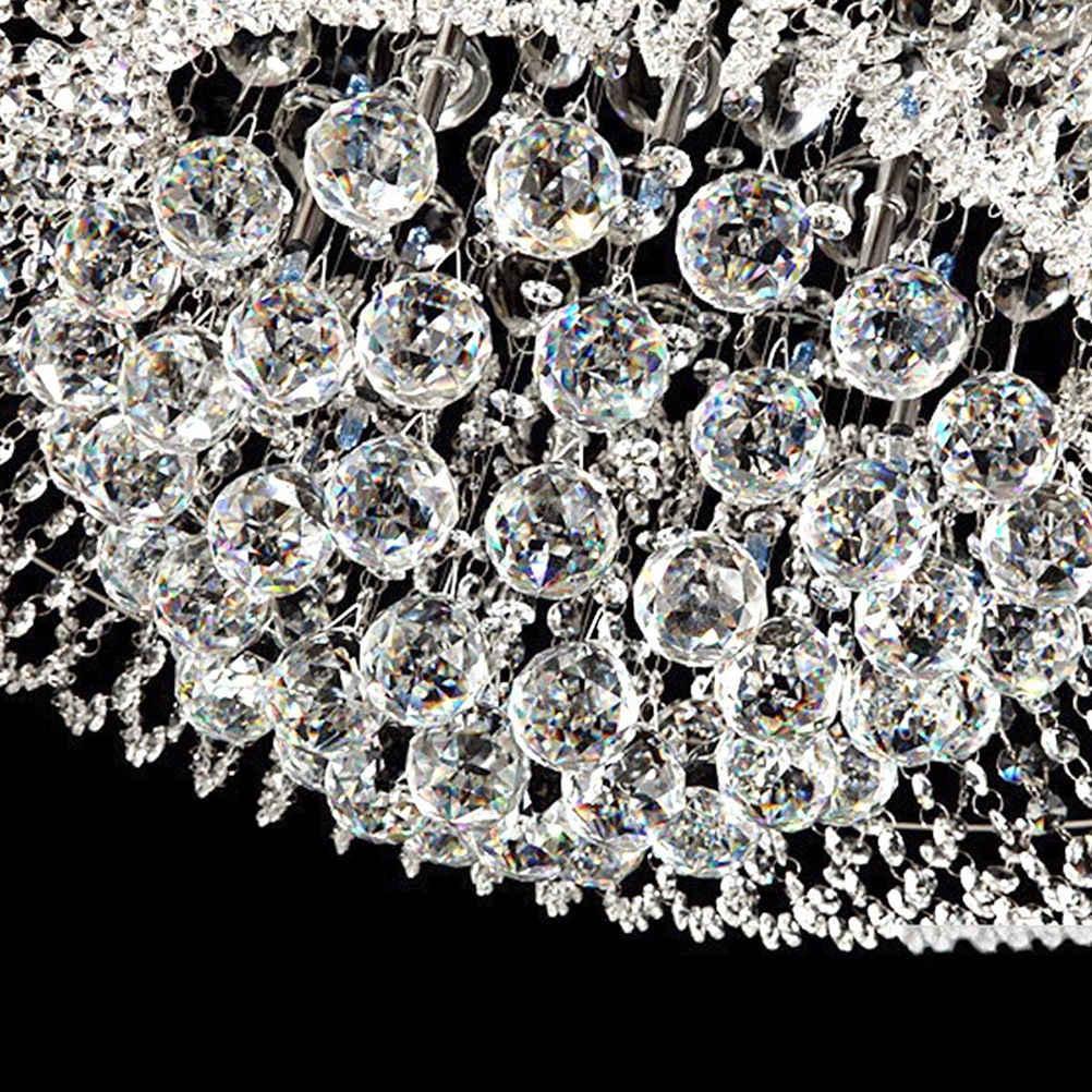 1 шт. люстра Шар Капля лампа из хрустального стекла кулон свободные разделитель шарик прозрачная лампа украшение 30x35 мм