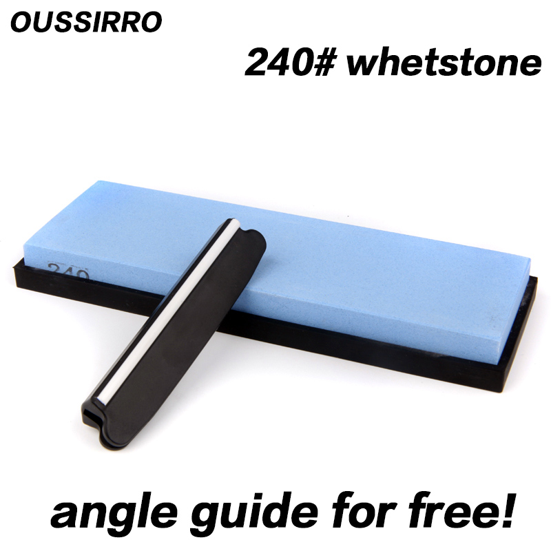 OUSSIRRO 240 grit coarse grinding whetstone knife <font><b>sharpener</b></font> kitchen tools knife stone sharpening for knife <font><b>angle</b></font> guide for free