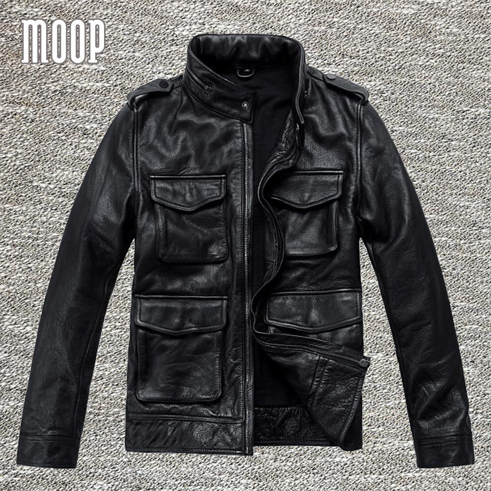 n genuine leather jacket coat coat in black men cow. Black Bedroom Furniture Sets. Home Design Ideas