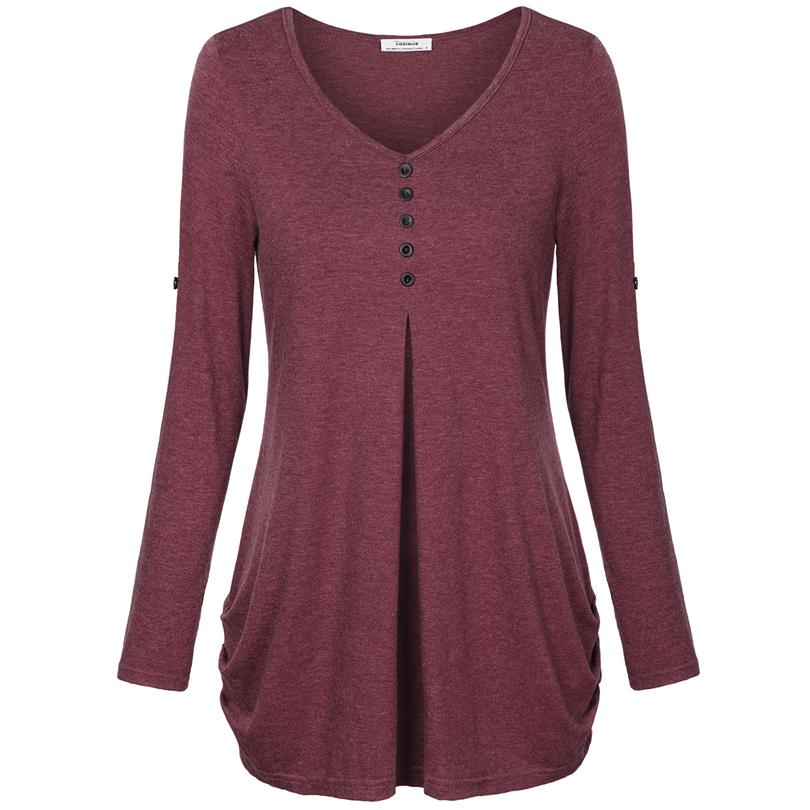 HTB1aya3PFXXXXbZaXXXq6xXFXXXX - New Women Summer T-shirt Button Long Sleeve Female