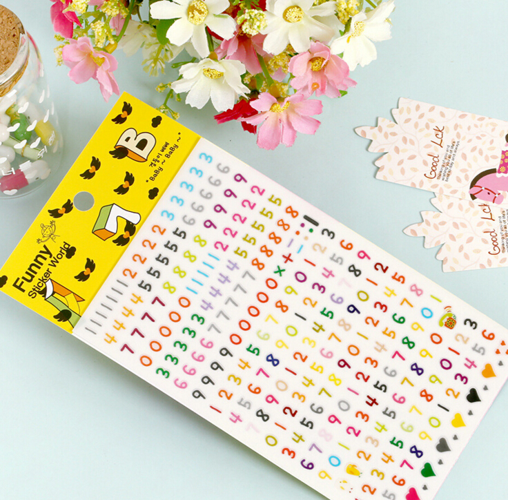 Funny Stickers World Numbers Decorative Stickers Mobile Phone Stickers Stationery DIY Scrapbooking Album Stickers