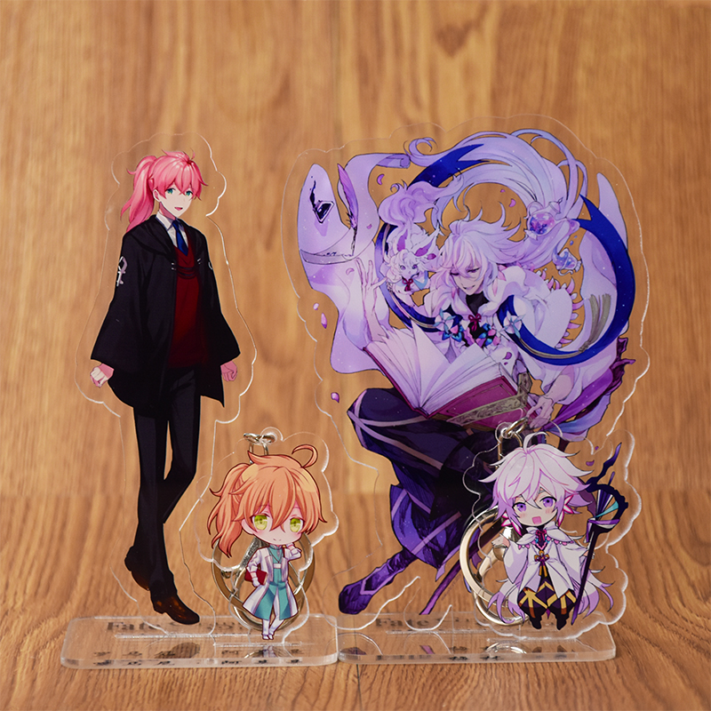 Anime FGO Fate/Grand Order Merlin Enkidu Abigail Williams Saber Cosplay Acrylic Stand Figure Desk Stand Figure & Keyring