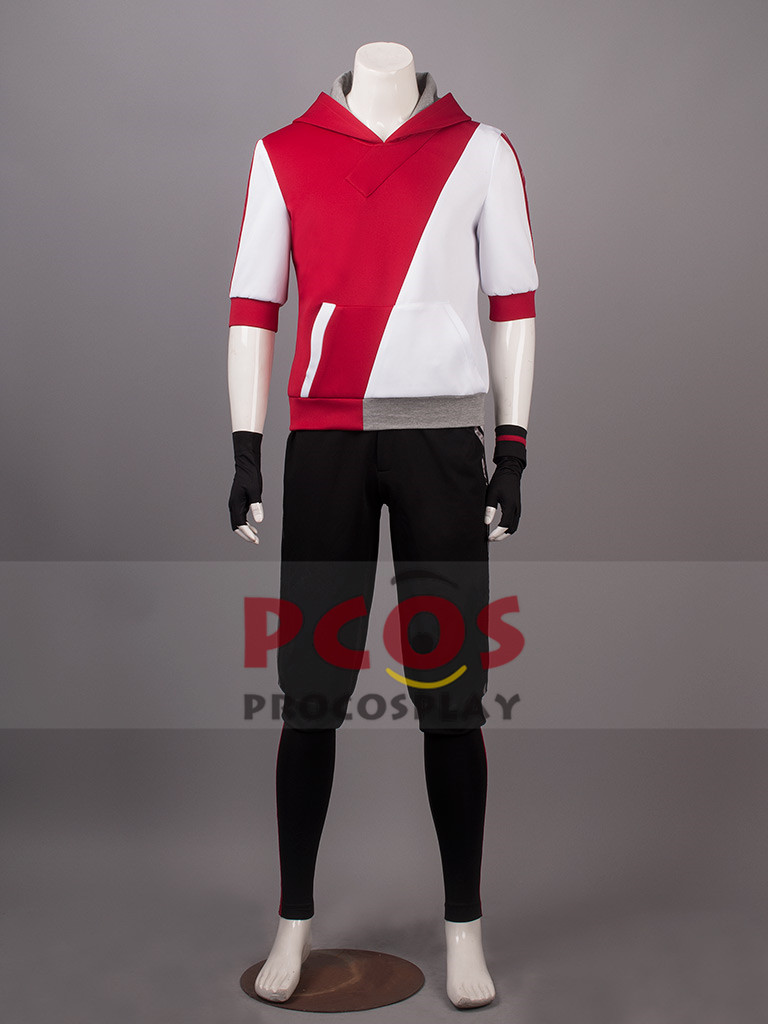 Pokemon Go Male Red Cosplay Costume & Hat mp003519