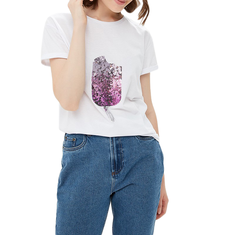 T-Shirts MODIS M182W00160 shirt cotton for for female for woman TmallFS t shirts modis m182w00155 shirt cotton for for female for woman tmallfs