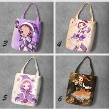 IVYYE Волшебная DoReMi модная аниме Складная парусиновая сумка для покупок повседневные сумки на плечо индивидуальные сумки-тоут для девушек Новинка