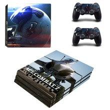 Ace Combat 7 Skies Unknown PS4 Pro Skin Sticker For Sony PlayStation 4 Pro Console and Controllers PS4 Pro Stickers Decal