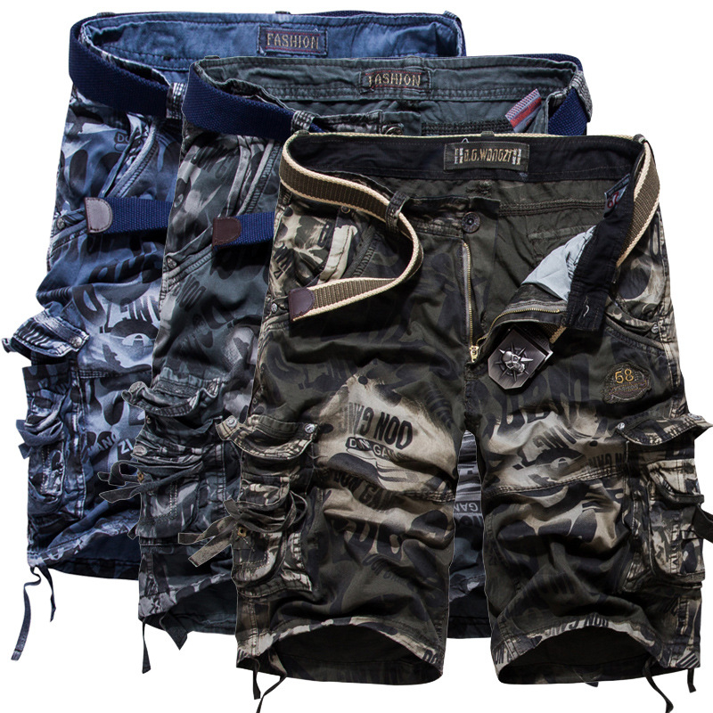 Military Cargo Shorts Men Cool Camouflage Summer Cotton Casual Men Short Pants Brand Clothing Comfortable Male washed Shorts