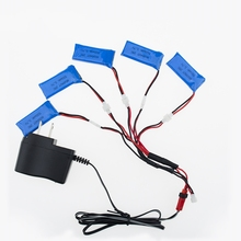 3.7V 500mAh Battery RC Drone 5pcs Lipo Batteries and charger for Hubsan X4 H107 H107L H107C H107D H107P Quadcopter part