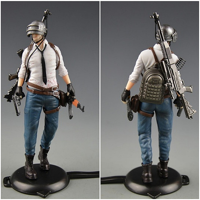 Playerunknowns Battlegrounds  PUBG Around 6 inch doll figure spot to eat chicken tonight Metal Fashion Car Weapon model 12Style 3