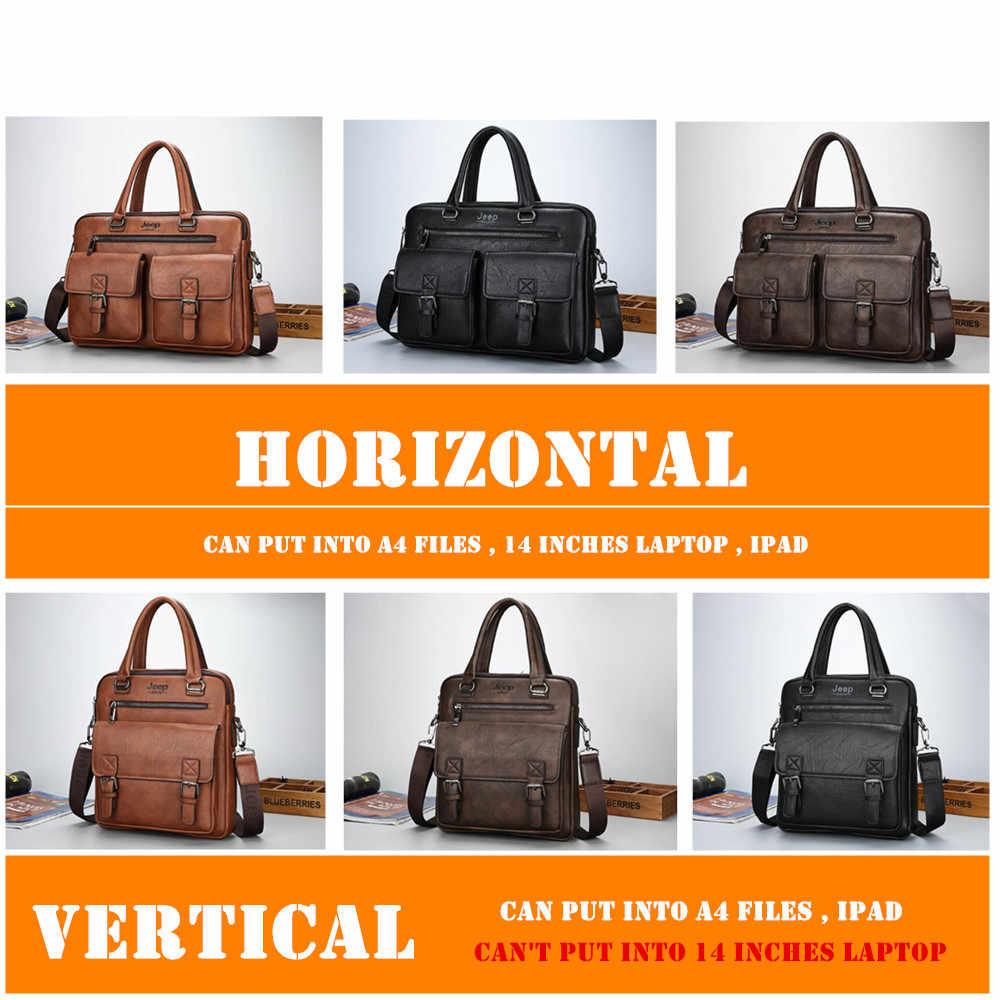 جيب BULUO العلامة التجارية الشهيرة تصميم جديد الرجال حقيبة حقيبة حقائب للرجال الأعمال موضة حقيبة ساعي 14 'حقيبة لابتوب 8001