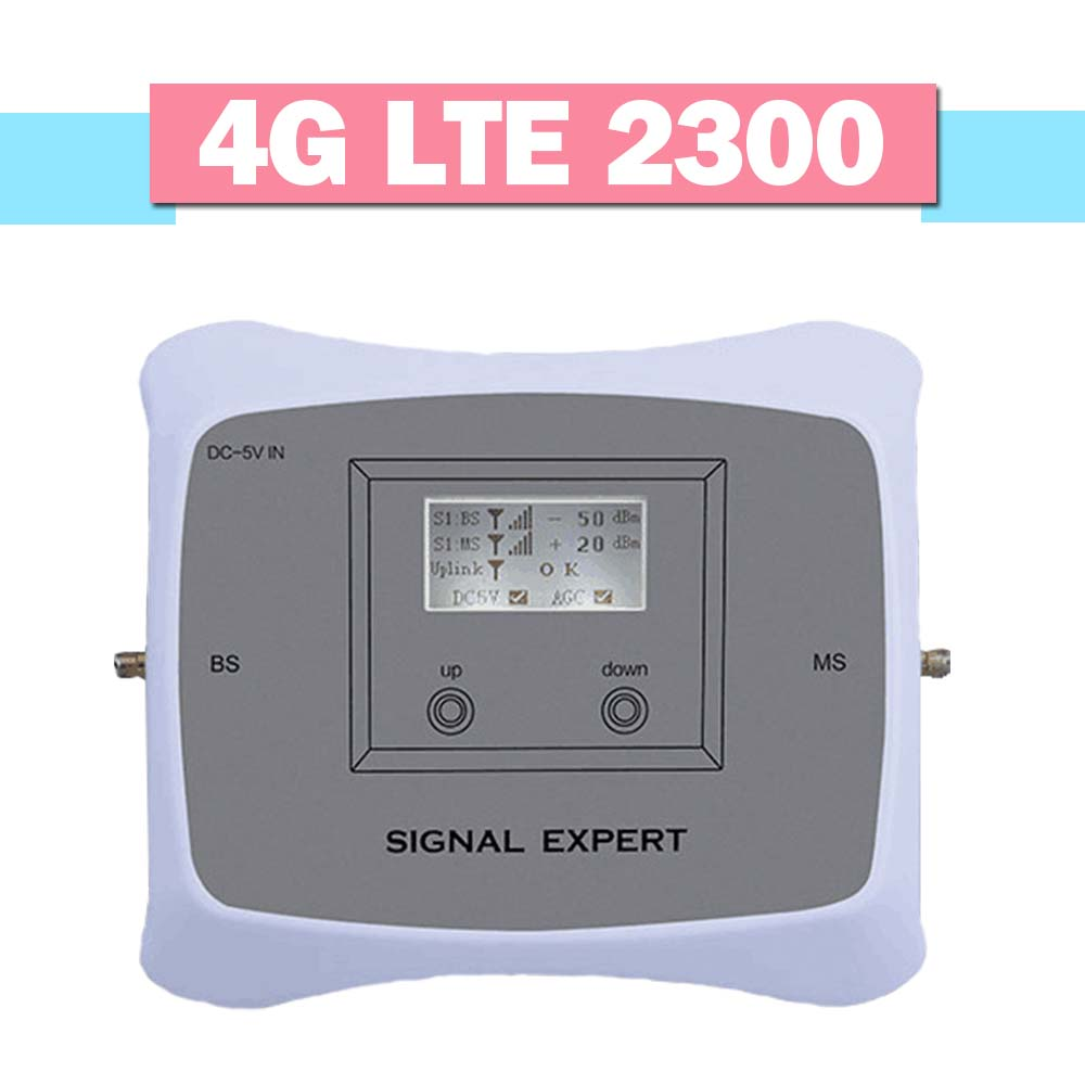Smart 4G Cellphone Signal Amplifier TDD 4G LTE 2300 Mobile Phone Signal Repeater 70dB Gain 4G LTE 2300 Booster With LCD Display