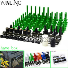 76 PCS For Kawasaki Ninja ZX6R Motorcycle Fairing Bolt Screw Fastener Nut Washer 2005 2006 ZX-6R