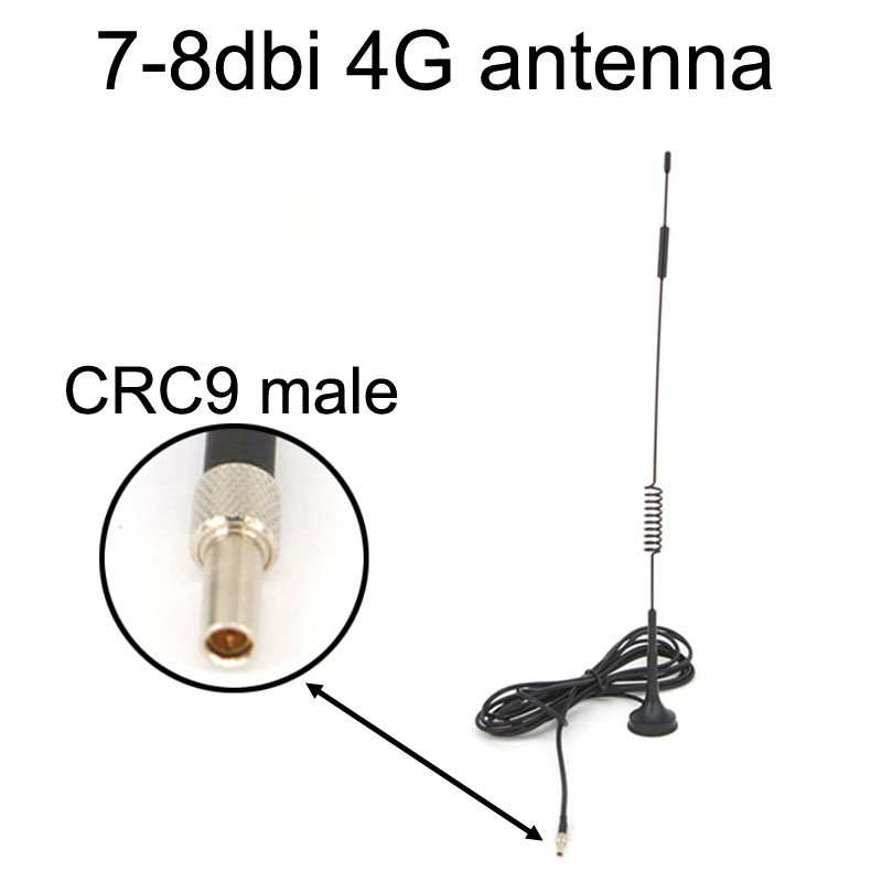 NEW 4G 7-8 Dbi LTE Antenna 698-960/1700-2700Mhz With Magnetic Base CRC9 Plug Male RG174 3M For Huawei E3372 E353 E872