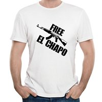 Design Shirts Men'S Short Crew Neck Male Ing Office Free El Chapo Joaquin Guzman Distric All Short-Sleeve T Shirts