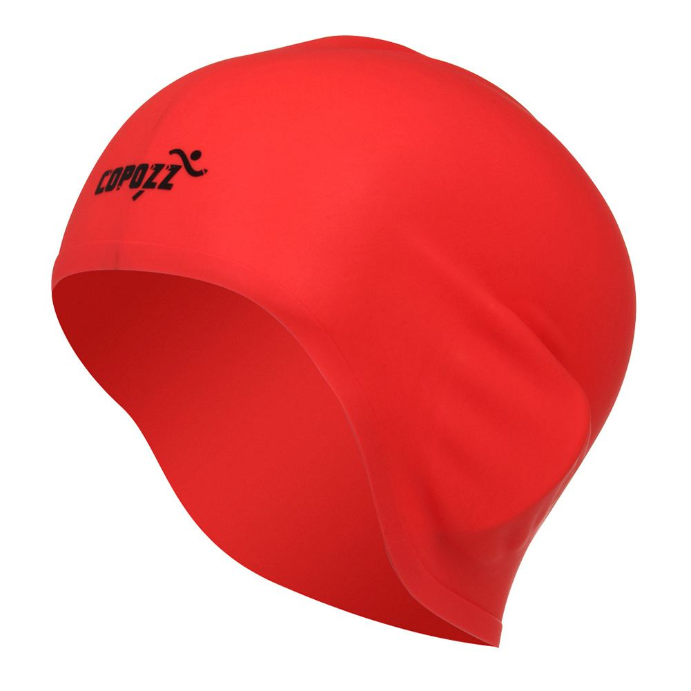 COPOZZ Swimming Hat Sexy Women Girls Long Hair Swim Cap Stretch Hat Drape Bathing Cap