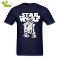 Clásico R2D2 Camiseta Star Wars hombres verano 100% algodón gráfico Camisetas Tees adulto más nuevo más tamaño ropa Cool normal chicos camiseta