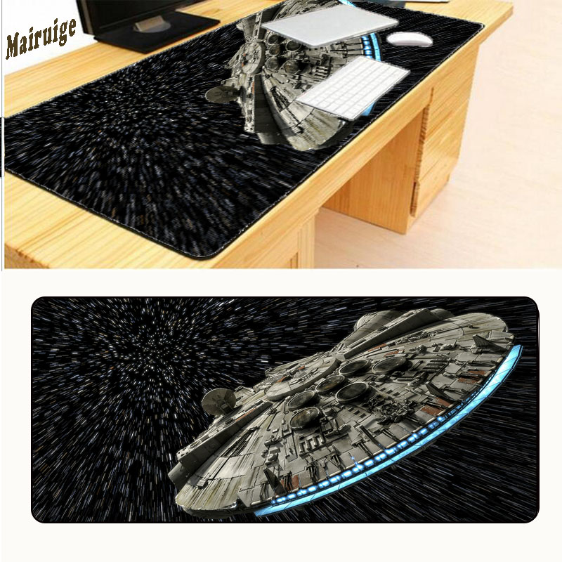 Mairuige Star Wars Large Overlock Gaming Mousepad Customized Gamer Mouse Mat High-end Game Computer Padmouse Keyboard Play Mats image