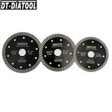 DT DIATOOL 1 adet süper ince sıcak preslenmiş Turbo elmas testere bıçağı kesme diski Dia 105/115/125mm kesme tekerleği mermer fayans granit