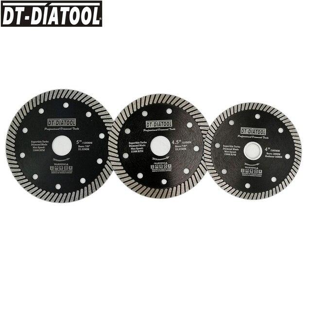 DT DIATOOL 1pc Super Dünne Heißer Gedrückt Turbo Diamant Sägeblatt Schneiden Disc Dia 105/115/125mm Schneiden Rad Marmor Fliesen Granit