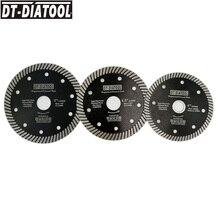DT DIATOOL 1pc Super Thin Hot Pressed Turbo Diamond Saw Blade Cutting Disc Dia 105/115/125mm Cutting Wheel Marble Tile Granite