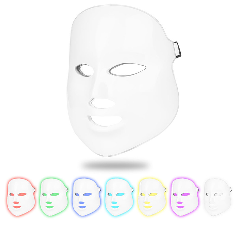 7 Colors Beauty Therapy Photon LED Facial Mask Light Skin Care Rejuvenation Wrinkle Acne Removal Face Beauty Spa Instrument 4950