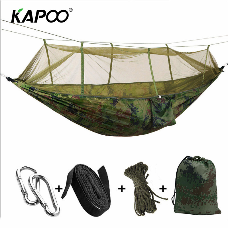 Mosquito Net Hammock Outdoor Hammock Outdoor Furniture Camping Hammock Picnic Mat Garden Swing Chair Soft Double Bed