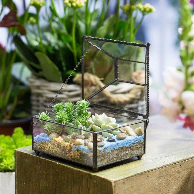 Attrayant Tabletop Geometric Polyhedron Glass Terrarium Box For Succulent Plants  Planter Decorative Flower Pot Bonsai FlowerPot With