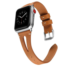 цена на Genuine Leather strap for apple watch 4 band 44mm 40mm 42mm 38mm correa iwatch series 4/3/2/1 bracelet watch belt accessories