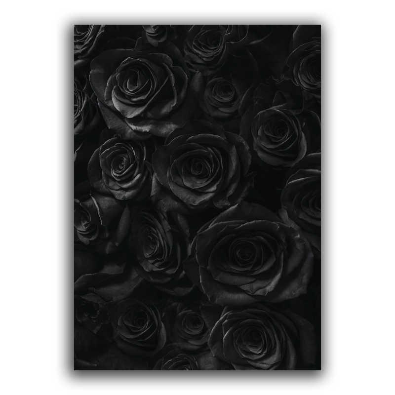 スカンジナビア黒白のポスター北欧キャンバス壁アートプリントヘラジカ絵画装飾画像花ローズ家の装飾