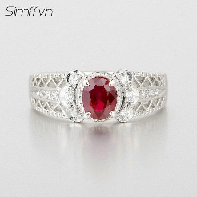 Ben noto Stile classico 1.05Ct Rubino Pietra Preziosa Anello Con Diamante  CQ58