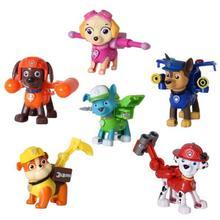 Transformación de Juguete Cachorro Perros de patrulla Anime Figuras de Acción Juguetes Modelo Juguetes Del Perro de la Patrulla Patrulla Canina Muñeca brinquedo