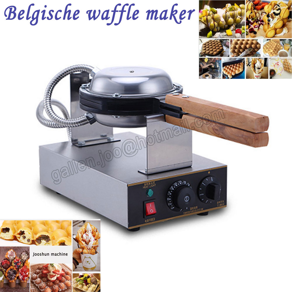 Stainless Steel Electric Snack baker Eggettes Egg Waffle Maker Rotated wafer maker; how to make waffles machine for sale stainless steel automatic egg roll machine for sale